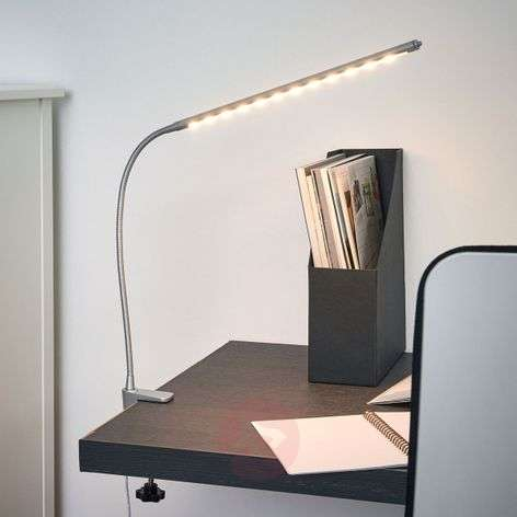 Bright clip-on LED lamp Anka with flex arm