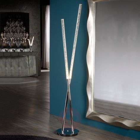 Brilliant LED floor lamp Cosmo with acrylic tubes