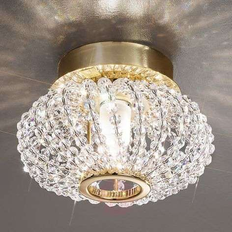 CARLA crystal ceiling light with gold