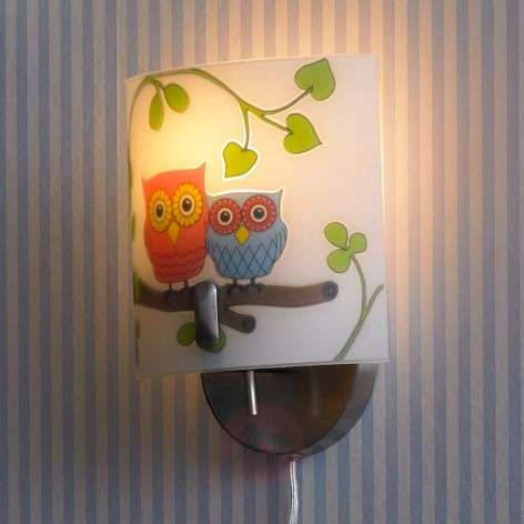 Buy kids wall lights from lights child friendly wall light ugglarp owl motif aloadofball Image collections