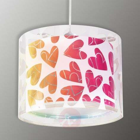 Children's hanging light Cuore with hearts