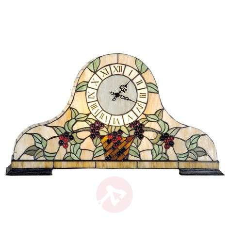 Clockwork II, a table clock in the Tiffany style