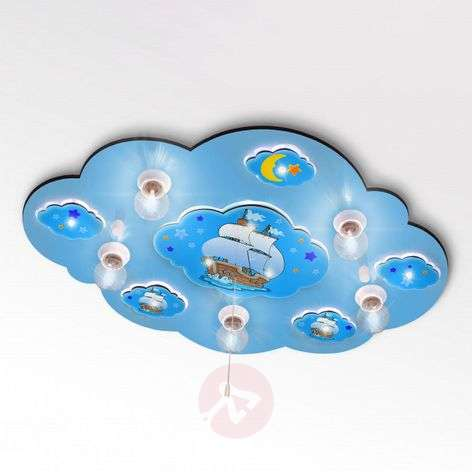 Cloud - blue ceiling lamp with LED light effects