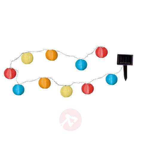 Colourful LED solar string light with 10 lampions