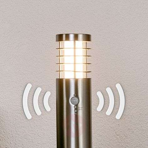 Contemporary LED path lamp Dila with motion sensor