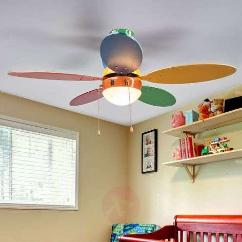 Buy ceiling fans with lighting online from lights corinna colourful ceiling fan with light aloadofball Images