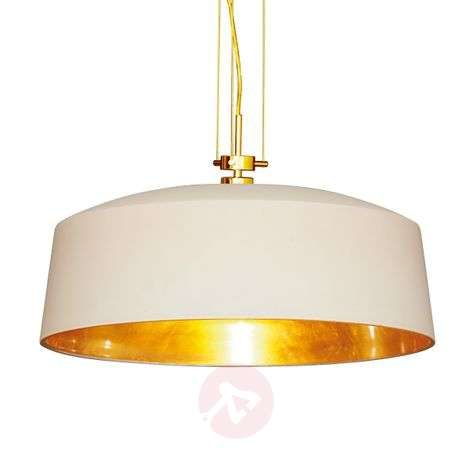Decorative hanging light Auro with gold leaf