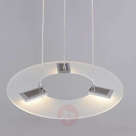Dimmable Sara LED pendant light, glass shade