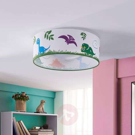 Dinoland fabric ceiling lamp for child's room, LED