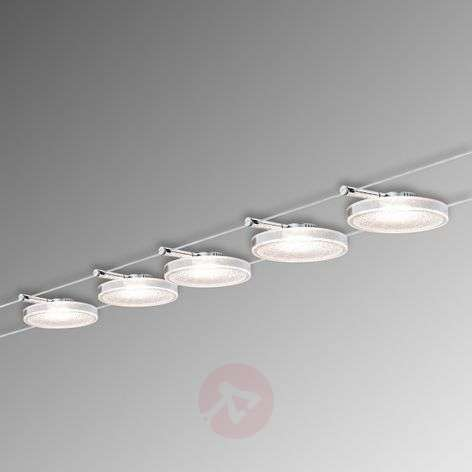 Disc LED II cable lighting system with five lights