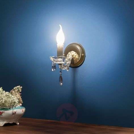 Dolores Stylish Wall Light Crystals Single Bulb
