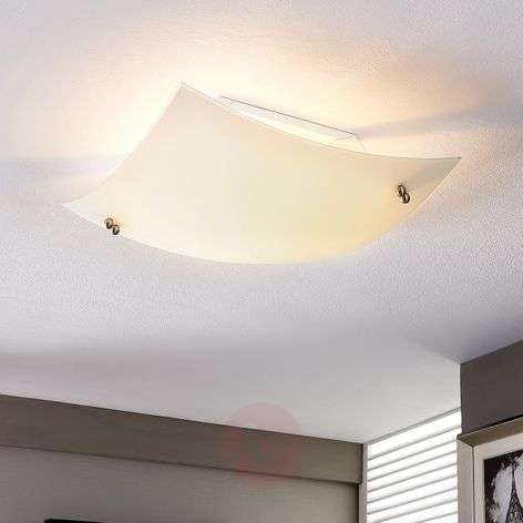 Domed ceiling light Vincent with an E27 LED