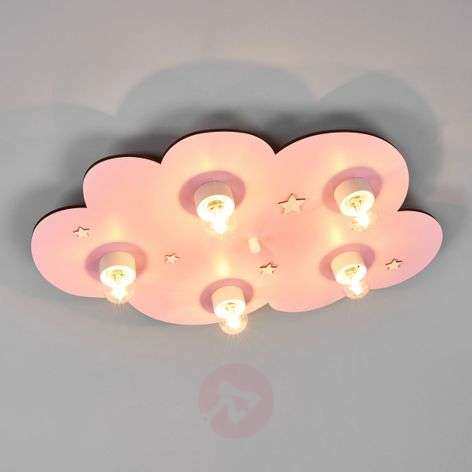Dreamy pink Cloud children's ceiling light
