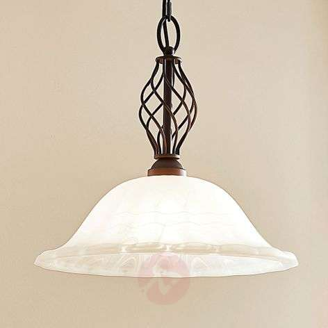 Dunja country house pendant lamp with an E27 LED