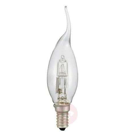E14 flame tip candle bulb halogen, clear