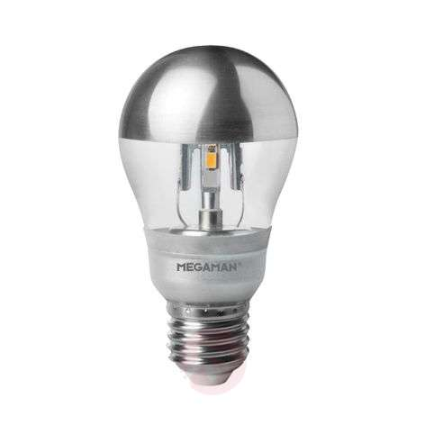 E27 5W LED mirror bulb silver, dimmable 2,800 K