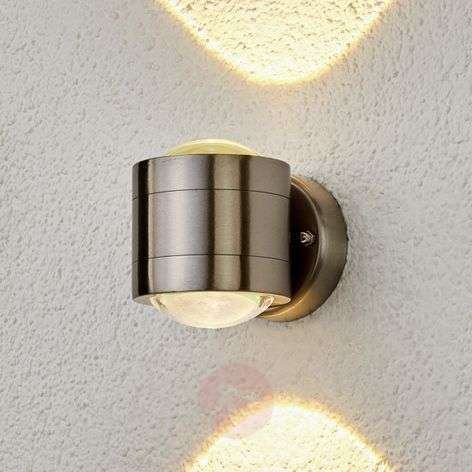 Effective, two-light LED outdoor wall light Lydia