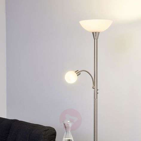 Elaina - 2-bulb LED floor lamp, nickel matte
