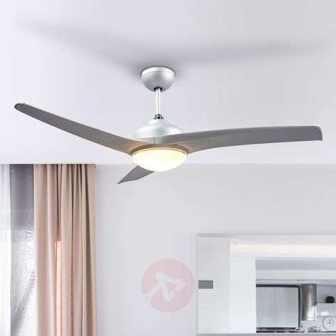 Buy ceiling fans with lighting online from lights emanuel silver ceiling fan with light aloadofball Gallery