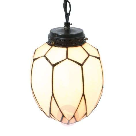 Enchanting hanging lamp Santo in the Tiffany style