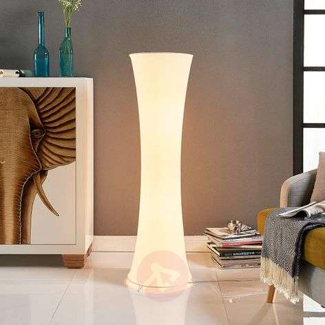 Fabric floor lamp Liana with a concave shape