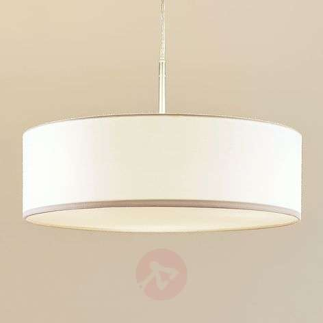Fabric pendant light Sebatin in white