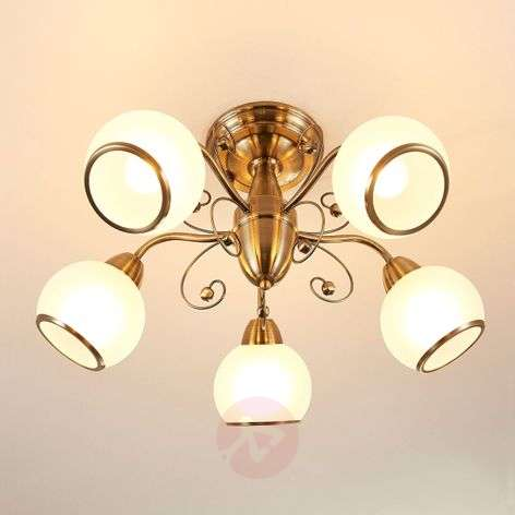 Classic and antique ceiling lights buy online lights fantastic ceiling light corentin antique brass aloadofball Image collections