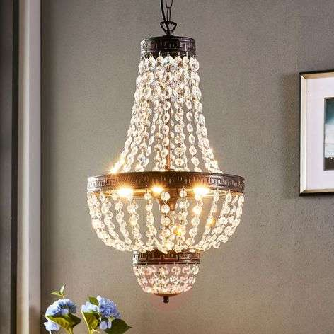 Fascinating pendant light Jorve with crystal