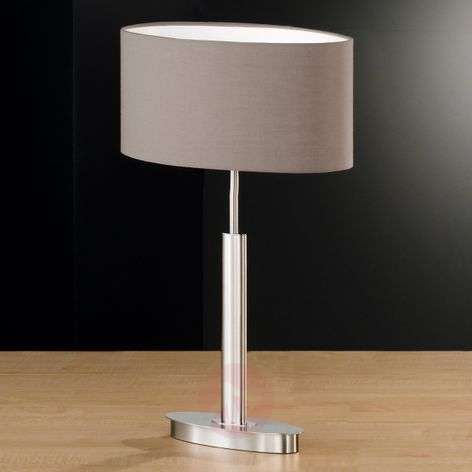 Finn Oval Table Lamp With Shade In Cappuccino