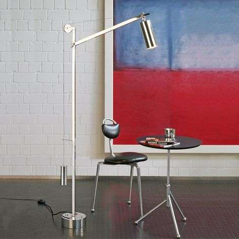 Floor lamp in the Bauhaus style with counterweight