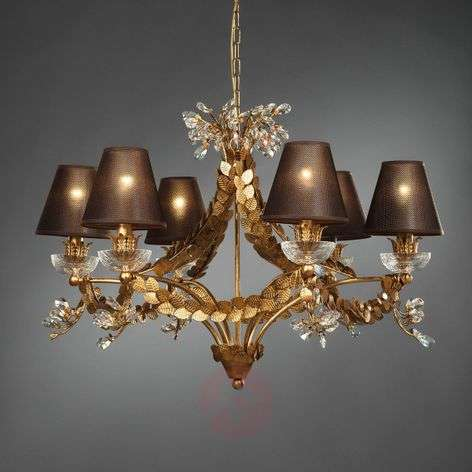 Foliage - noble chandelier with leaf decoration