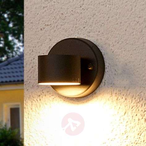 Graphite grey LED outdoor wall lamp Lexi
