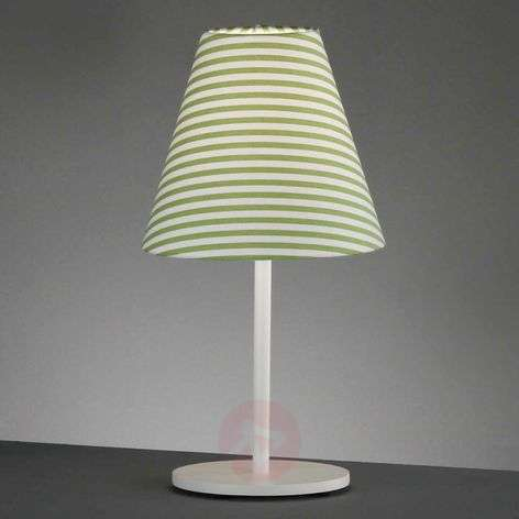 Green striped table lamp Alice