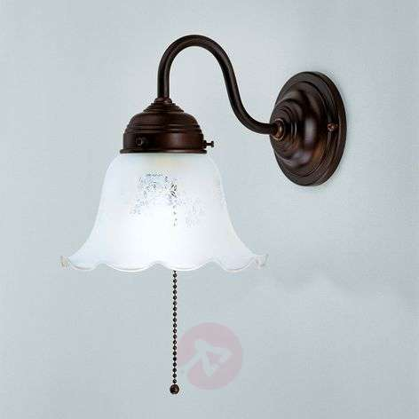 Gretchen wall light with antique mount