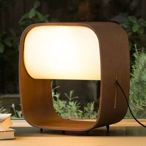 High quality led table lamp 1968 made of wood