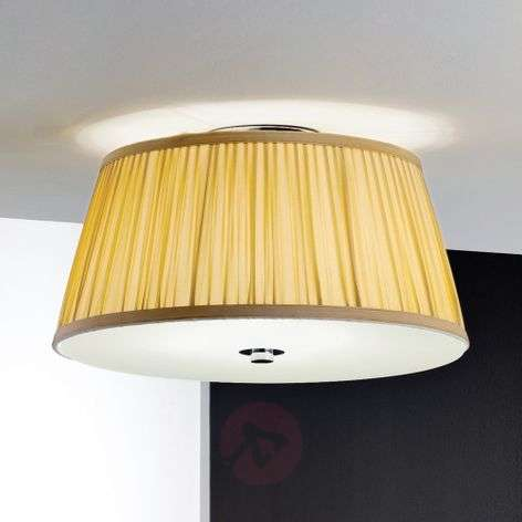 Iliana Ceiling Light Pleated Shade Beige