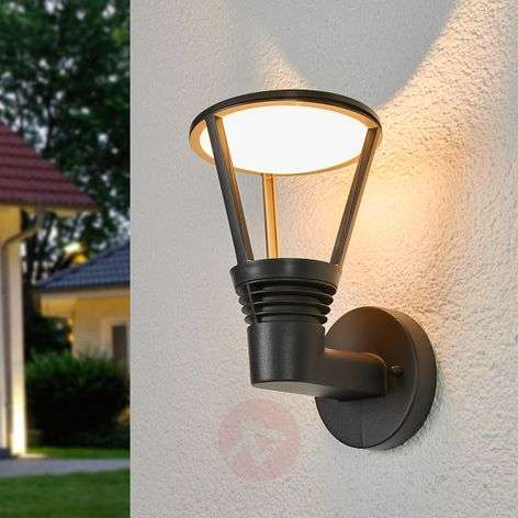 Industrial-themed Ladi LED exterior wall light