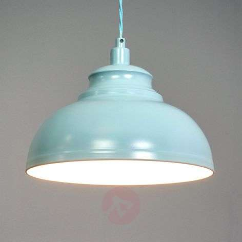 Isla - a hanging light in a soft blue colour