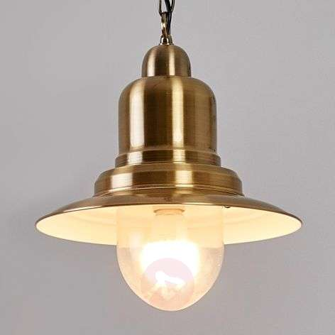 Jeromino fisherman lamp in antique brass