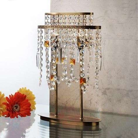 Jevana Crystal Table Light Patinated