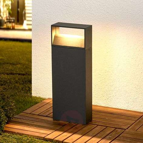 Kjella LED pillar light in dark grey