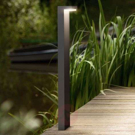 L-shaped LED path light Bustan, aluminium