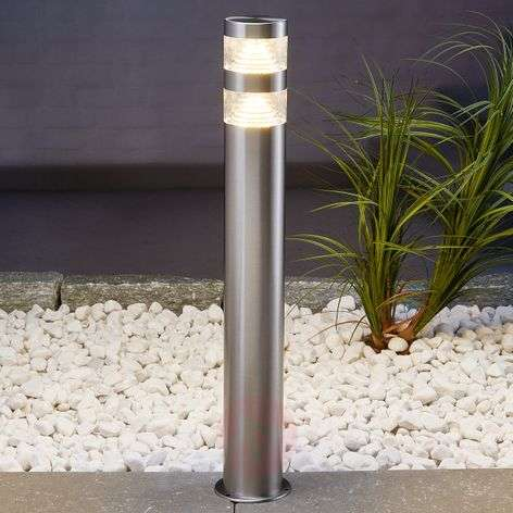 Lanea stainless steel pathway light with LEDs 60cm