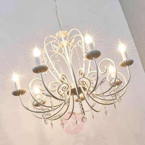 Large Chandelier Sophina in white
