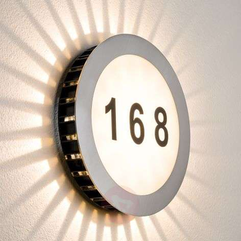 LED house number lamp Sun IP44