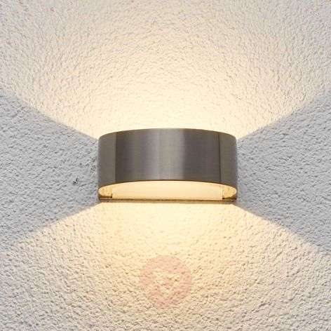 LED outdoor wall light Venja in semicircular form