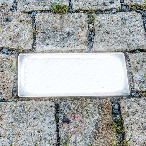 LED recessed floor light, paving stone, 20 cm