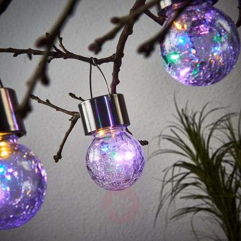 LED solar hanging lamp Colour Ball, set of 3