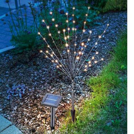 LED solar outdoor decorative light, light bush
