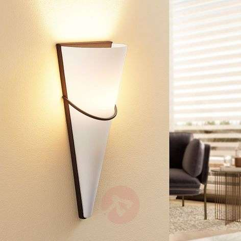 LED wall light Melek with a rust-coloured finish